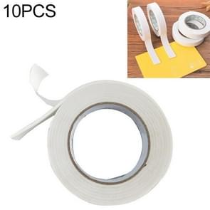10 PCS Super Strong Double Faced Adhesive Tape Foam Double Sided Tape Self Adhesive Pad For Mounting Fixing Pad Sticky, Length:3m(18mm)