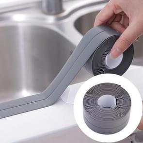 Duurzaam PVC materiaal waterdichte schimmel proof plakband keuken badkamer muur afdichting tape  breedte: 2.2 cm x 3.2 m (grijs)