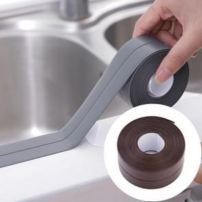 Durable PVC Material Waterproof Mold Proof Adhesive Tape  Kitchen Bathroom Wall Sealing Tape, Width:2.2cm x 3.2m(Brown)