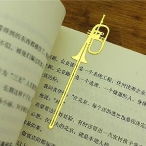 2 PCS Metal Instrument Bookmark Book Folder Office School Stationery(Small Horn)