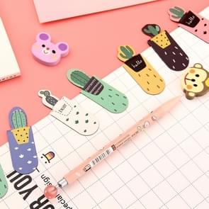 4 Sets Cactus Magnetic Multi-function Bookmark School Office Stationery