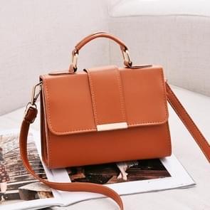 Women Bag Leather Handbags PU Shoulder Bag Small Flap Crossbody Bags for Women Messenger Bags(Brown)