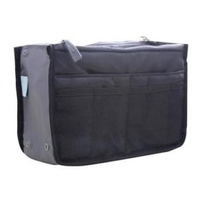 Purse Large liner Lady Makeup Cosmetic Bag Cheap Female Tote(Black)