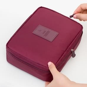 2 PCS Waterproof Make Up Bag Travel Organizer for Toiletries Kit(Wine red)
