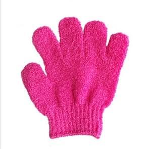 5 PCS Shower Bath Gloves Exfoliating Spa Massage Scrub Body Glove(Red)