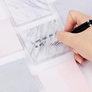 3 PCS Marble Color Notepad Self Adhesive Memo Pad Sticky Notes Bookmark School Office Supply(Marble big)