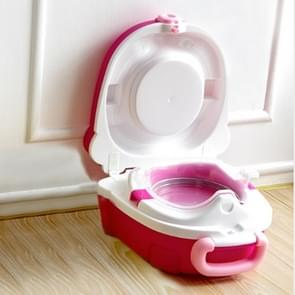 Children Small Toilet Children Portable Toilet Travel Portable Car-mounted(red)