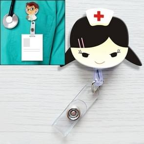 Little Nurse Pattern Cute Retractable Badge Reel Student Nurse ID Name Card Badge