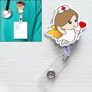Angel Pattern Cute Retractable Badge Reel Student Nurse ID Name Card Badge