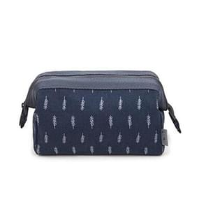 Cosmetic Bag Women Necessaire Make Up Bag Travel Waterproof Portable Makeup Bag Toiletry Kits(Navy feather)