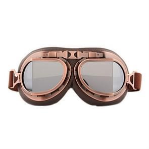 Beschermende bril stofdicht anti-wind / zand rijden motorfiets bril industriële bril (Silver Plating Lens)