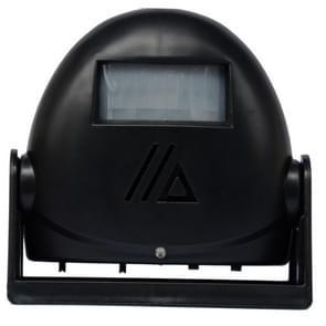 Draadloze intelligente deurbel infrarood bewegings sensor Voice prompter waarschuwing deur klok alarm (zwart)