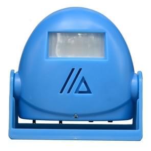 Draadloze intelligente deurbel infrarood bewegings sensor Voice prompter waarschuwing deur klok alarm (blauw)