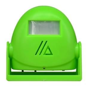 Draadloze intelligente deurbel infrarood bewegings sensor Voice prompter waarschuwing deur klok alarm (groen)