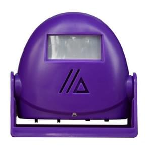 Draadloze intelligente deurbel infrarood bewegings sensor Voice prompter waarschuwing deur klok alarm (paars)