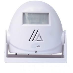 Draadloze intelligente deurbel infrarood bewegings sensor Voice prompter waarschuwing deur klok alarm (wit)
