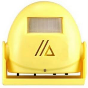 Draadloze intelligente deurbel infrarood bewegings sensor Voice prompter waarschuwing deur klok alarm (geel)