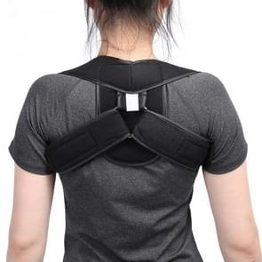 Adjustable Upper Back Shoulder Support Posture Corrector Adult Children Corset Spine Brace Back Belt, Size:L(Black)
