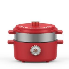 Dormitory Home Multi-functie Koken Rijst Koken Elektrische Cooker Pot  CN Plug  Style: Pot + Steamer (Rood)