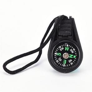 50 PCS Key Chain Mini Compass Gear Outdoor Camping Hiking Navigator Utility Gear Survival Pocket Compass Tool(Black)