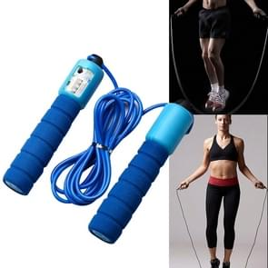 Jump Ropes with Counter Sports Fitness Adjustable Fast Speed Counting Jump Skip Rope Skipping Wire(Blue)