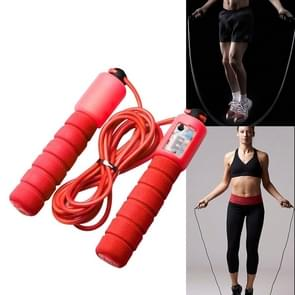 Jump Ropes with Counter Sports Fitness Adjustable Fast Speed Counting Jump Skip Rope Skipping Wire(Red)