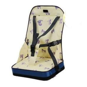 Portable Heightening Folding Baby Dining Chair  Baby Eating Chair Mummy Bag(Yellow)