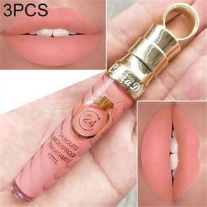 3 PCS Make Up Lips Matte Liquid Lipstick Waterproof Long Lasting Sexy Pigment Nude Glitter Style Lip Gloss Beauty Red Lip Tint(4)