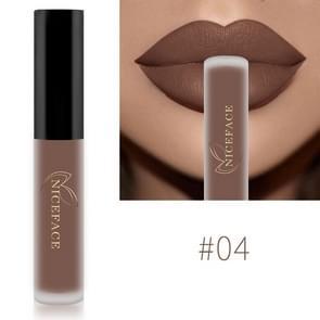 Lip Gloss Nude Matte Liquid Lipstick Waterproof  Long Lasting Moisturizing Lip Makeup Cosmetics(04)