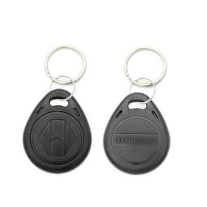 10 stuks 125KHz TK/EM4100 proximity ID kaart Chip Sleutelhanger sleutel ring (zwart)