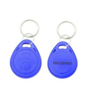 10 stuks 125KHz TK/EM4100 proximity ID kaart Chip Sleutelhanger sleutel ring (blauw)