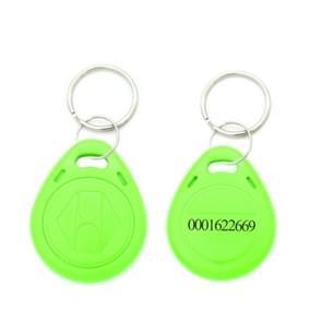 10 stuks 125KHz TK/EM4100 proximity ID kaart Chip Sleutelhanger sleutel ring (groen)