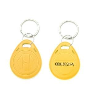 10 stuks 125KHz TK/EM4100 proximity ID kaart Chip Sleutelhanger sleutel ring (oranje)