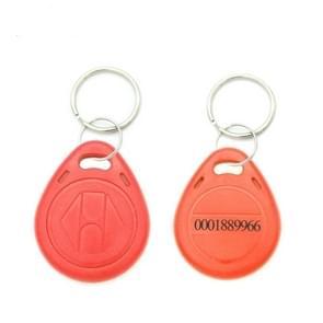 10 stuks 125KHz TK/EM4100 proximity ID kaart Chip Sleutelhanger sleutel ring (rood)