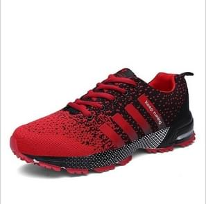 Outdoor Antiskid Breathable Trekking Hunting Tourism Mountain Sneakers Casual Shoes, Shoe Size:6.5(Black and Red)