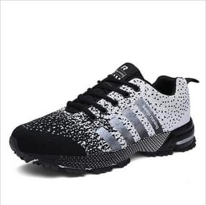 Outdoor Antiskid Breathable Trekking Hunting Tourism Mountain Sneakers Casual Shoes, Shoe Size:5.5(Black and White)