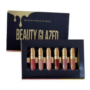 Liquid Lipstick Lip Gloss Professional Makeup Matte Lipstick Lip Kit Long Lasting Cosmetics(Six color)