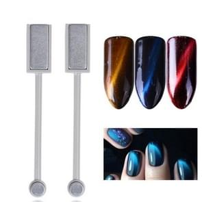 Manicure tool dubbel-headed Cat-Eye magneet stick 3D Magic effect rond-headed vierkant hoofd Nail Art magneet