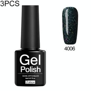 3 PCS Neon Pigment Glitter Sticker Shining Gel Nail Polish Base Nails Painting Manicure Decorations Gel Varnish(4006)