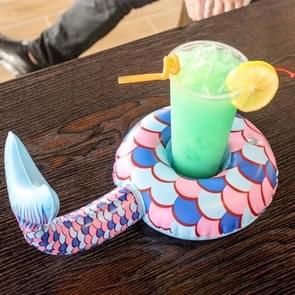 2 PCS Mermaid Vorm verdikt Beach Coaster Water Opblaasbare bekerhouder  willekeurige kleur levering