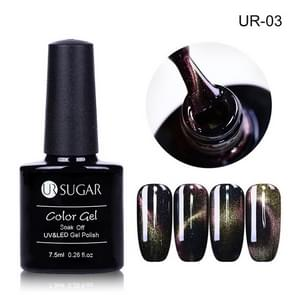 UR suiker holografische Glitter magnetische Gel magneet Cat Eye Laser Nails Gel Poolse geniet uit UV LED Varnish Nail Art lak  totale geheugencapaciteit: 7 5 ml (Laser vak cat eye gel UR03)