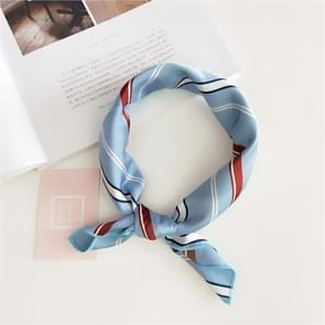 Square Scarf Hair Tie Band For Business Party Women Elegant Small Vintage Skinny Retro Head Neck Silk Satin Scarf(1)