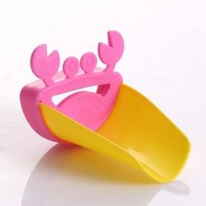 Cute Crab Bathroom Water Faucet Extender For Kid(pink+yellow)