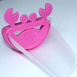 Cute Crab Bathroom Water Faucet Extender For Kid(pink+transparent)