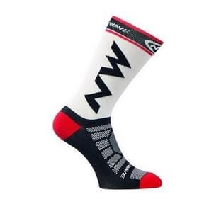3 Pairs Breathable Quick Drying Nylon Bicycle Riding Cycling Socks Sports Socks Basketball Football Socks(White)