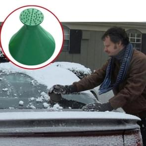 2 PCS Car Magic Window Windshield Car Ice Scraper Shaped Funnel Snow Remover Deicer Cone Deicing Tool Scraping