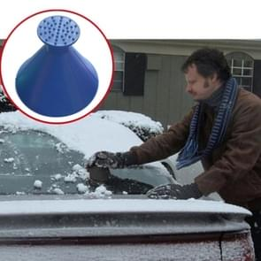 Car Magic Window Windshield Car Ice Scraper Shaped Funnel Snow Remover Ice Fighter Cone Road Salt Tool Scraping