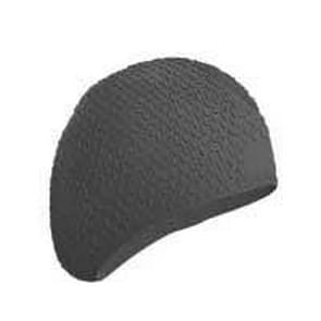 2 PCS Silicone Waterproof Swimming Caps Protect Ears Long Hair Sports Swimming Cap for Adults(Dark Gray)