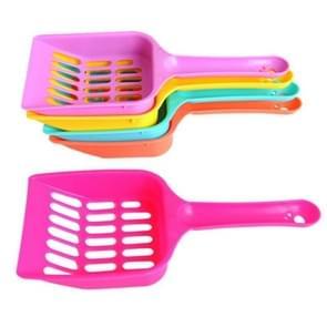3 STKS kat strooisel schop huisdier schoonmaken tool plastic Scoop kat zand reinigingsproducten (willekeurige kleur)