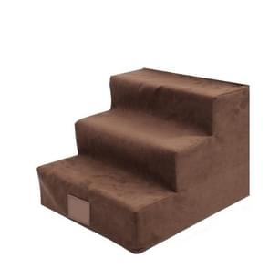 Dog Stairs Pet Sponge Stairs Ladders Small Dogs Teddy on Sofas Ladders(Brown)